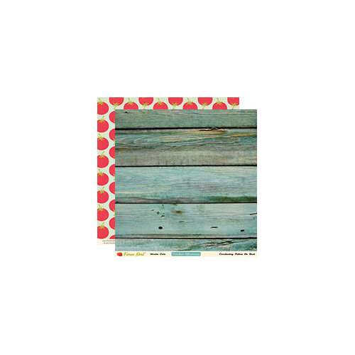 October Afternoon - Farm Girl Collection - 12 x 12 Double Sided Paper - Wooden Crate