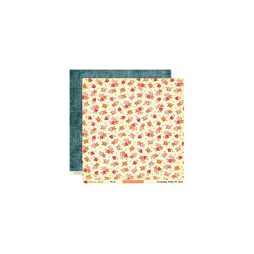 October Afternoon - Farm Girl Collection - 12 x 12 Double Sided Paper - Pie Tin