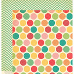 October Afternoon - Cakewalk Collection - 12 x 12 Double Sided Paper - Candy Buttons