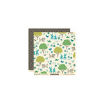 October Afternoon - Woodland Collection - 12 x 12 Double Sided Paper - Bunny Tail Trail
