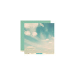 October Afternoon - Woodland Collection - 12 x 12 Double Sided Paper - Blue Sky