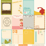 October Afternoon- Saturday Mornings Collection - 12 x 12 Paper - Journaling Cards