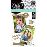 Me and My Big Ideas - Pocket Pages - Clear Stickers - 5 Sheets - Friends