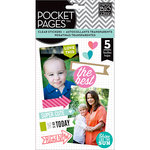 Me and My Big Ideas - Pocket Pages - Clear Stickers - 5 Sheets - Happy