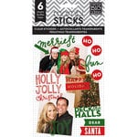 Me and My Big Ideas - MAMBI Sticks - Pocket Pages - Clear Stickers - Holly Jolly Christmas
