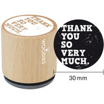 Woodies - Wood Mounted Rubber Stamp - Thank You So Very Much