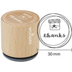 Woodies - Wood Mounted Rubber Stamp - Thanks