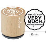 Woodies - Wood Mounted Rubber Stamp - Thank You Very Much For Everything