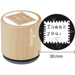 Woodies - Wood Mounted Rubber Stamp - Thank You