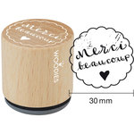 Woodies - Wood Mounted Rubber Stamp - Merci Beaucoup