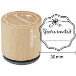 Woodies - Wood Mounted Rubber Stamp - You're Invited