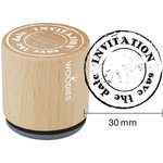 Woodies - Wood Mounted Rubber Stamp - Invitation Save The Date