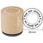 Woodies - Wood Mounted Rubber Stamp - You Are Invited To My Party