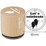 Woodies - Wood Mounted Rubber Stamp - Let's Celebrate