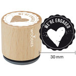 Woodies - Wood Mounted Rubber Stamp - We're Engaged