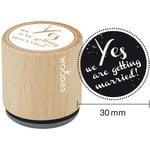 Woodies - Wood Mounted Rubber Stamp - Yes We Are Getting Married