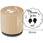 Woodies - Wood Mounted Rubber Stamp - Please Join Us