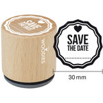 Woodies - Wood Mounted Rubber Stamp - Save The Date