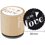 Woodies - Wood Mounted Rubber Stamp - With Love - Two