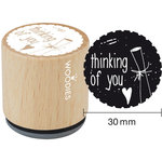 Woodies - Wood Mounted Rubber Stamp - Thinking Of You