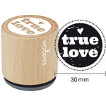Woodies - Wood Mounted Rubber Stamp - True Love