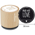 Woodies - Wood Mounted Rubber Stamp - Made With Love