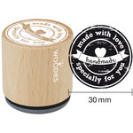 Woodies - Wood Mounted Rubber Stamp - Made With Love Specially For You