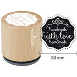 Woodies - Wood Mounted Rubber Stamp - Handmade With Love Homemade