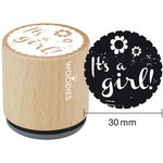 Woodies - Wood Mounted Rubber Stamp - It's A Girl