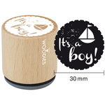 Woodies - Wood Mounted Rubber Stamp - It's A Boy