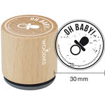 Woodies - Wood Mounted Rubber Stamp - Oh Baby
