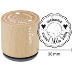 Woodies - Wood Mounted Rubber Stamp - Welcome Sweet Little Baby