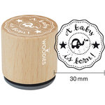 Woodies - Wood Mounted Rubber Stamp - A Baby Is Born