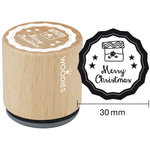 Woodies - Wood Mounted Rubber Stamp - Merry Christmas