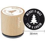 Woodies - Wood Mounted Rubber Stamp - Merry X-Mas