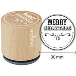 Woodies - Wood Mounted Rubber Stamp - Merry Christmas To