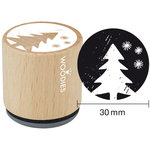 Woodies - Wood Mounted Rubber Stamp - Christmas Tree