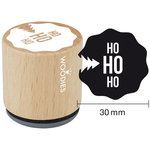 Woodies - Wood Mounted Rubber Stamp - Ho Ho Ho
