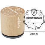 Woodies - Wood Mounted Rubber Stamp - This Book Belongs To