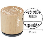 Woodies - Wood Mounted Rubber Stamp - Exlibris 2