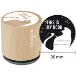 Woodies - Wood Mounted Rubber Stamp - This Is My Book