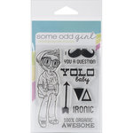 Some Odd Girl - Clear Acrylic Stamps - Hipster Kody