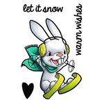 Some Odd Girl - Clear Acrylic Stamps - Christmas - Snow Bunny