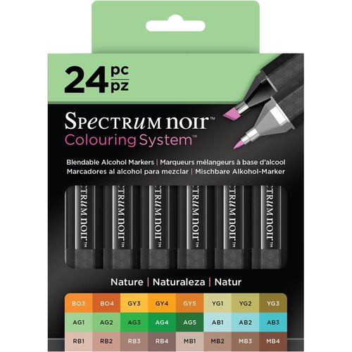 Crafter's Companion - Spectrum Noir - Alcohol Markers - Nature - 24 Pack