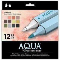 Crafter's Companion - Spectrum Noir - Aqua Markers - Essentials - 12 Pack