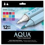 Crafter's Companion - Spectrum Noir - Aqua Markers - Primary - 12 Pack