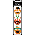 Me and My Big Ideas - MAMBI Sticks - Puffy Stickers - Halloween Hipsters