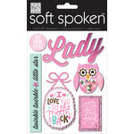 Me and My Big Ideas - Soft Spoken - 3 Dimensional Stickers with Foil Glitter and Jewel Accents - Hey There Little Lady
