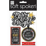 Me and My Big Ideas - Christmas - Soft Spoken - 3 Dimensional Stickers with Glitter and Jewel Accents - Let Your Heart Be Light