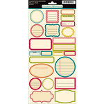 October Afternoon - Cherry Hill Collection - Cardstock Stickers - Labels, BRAND NEW